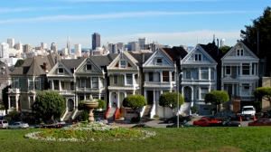 Painted Ladies Row Houses in San Fran