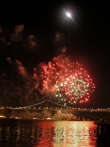 New Years Eve Fireworks over San Francisco Bay