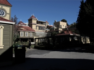 Rear View of Winchester Mystery House in San Jose